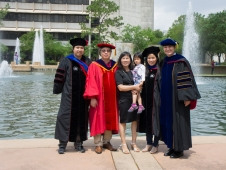 Graduation Ceremony for Binh Le and his wife - 2014 Spring