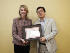 Zhigang-Deng-UH_provost_award_recognition_lunch_2014